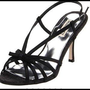 Badgley Mischka Wright, size 7, black satin heel